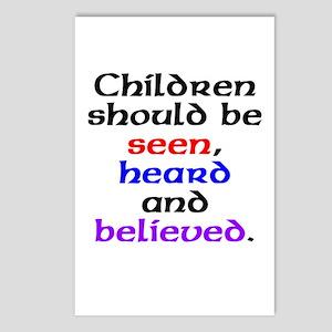 Seen, heard & believed Postcards (Package of 8)