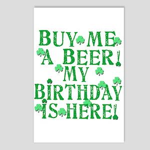 Buy Me a Beer Irish Birthday Postcards (Package of