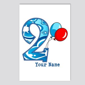 2nd Birthday Personalized Postcards (Package of 8)