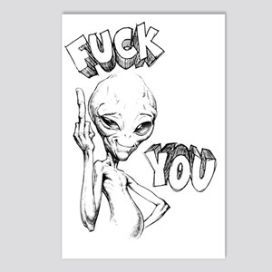 Paul the Alien F You Postcards (Package of 8)