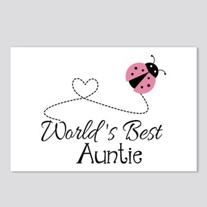 World's Best Auntie Ladybug Postcards (Package of