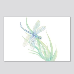 Watercolor Dragonfly pain Postcards (Package of 8)