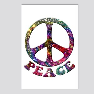 Jewelled Peace Symbol Postcards (Package of 8)