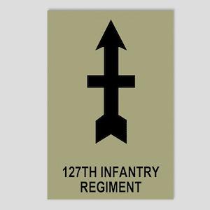 127th Infantry <BR>8 Postcards