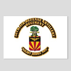 COA - 56th Air Defense Artillery Regiment Postcard