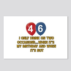 46 year old birthday designs Postcards (Package of