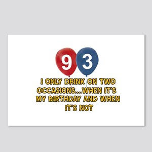 93 year old birthday designs Postcards (Package of