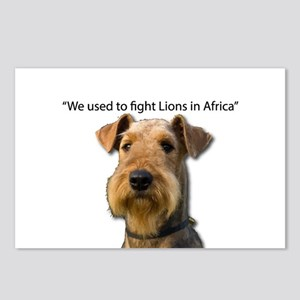 Airedales used to Fight L Postcards (Package of 8)