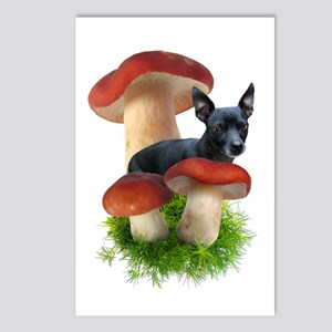 Red Mushroom Dog Postcards (Package of 8)