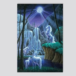 Unicorns in the Moonlight Postcards (Package of 8)