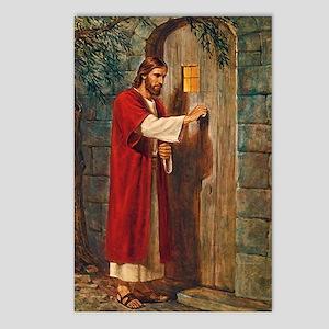 Jesus Knocks On The Door Postcards (package Of 8)