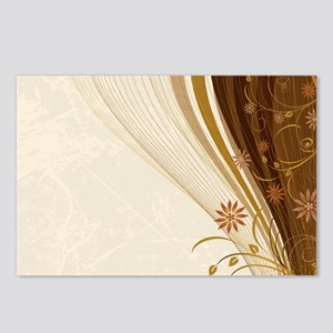 Elegant Floral Abstract D Postcards (Package of 8)