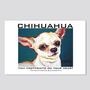 Tiny Footprints Chihuahua Postcards (Package of 8)