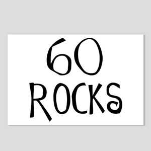 60th birthday saying, 60 rocks! Postcards (Package