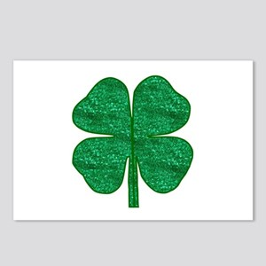 glitter shamrock Postcards (Package of 8)