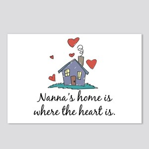 Nanna's Home is Where the Heart is Postcards (Pack
