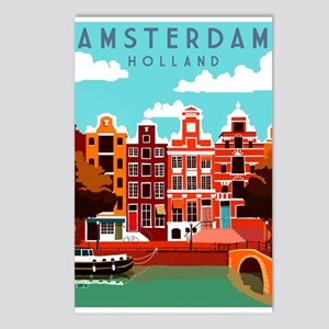 Amsterdam Holland Travel Postcards (Package of 8)