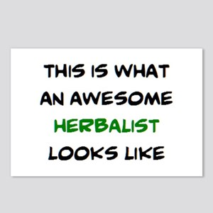 awesome herbalist Postcards (Package of 8)