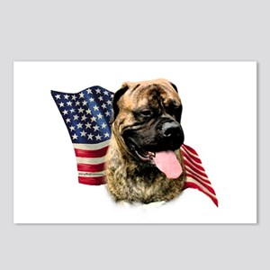 Bullmastiff Flag Postcards (Package of 8)