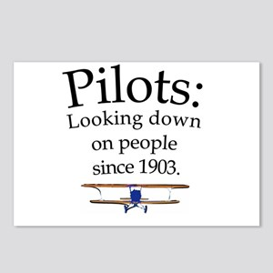 Pilots: Looking down on peopl Postcards (Package o