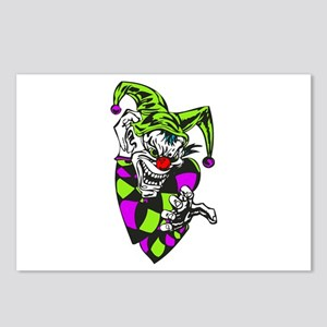 Clawing Evil Jester Clown Postcards (Package of 8)