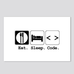 Eat. Sleep. Code. Postcards (Package of 8)