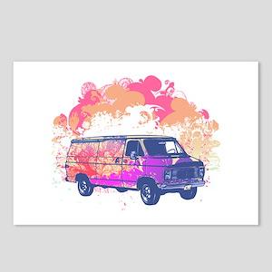Retro Hippie Van Grunge Style Postcards (Package o