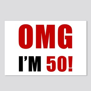 OMG 50th Birthday Postcards (Package of 8)