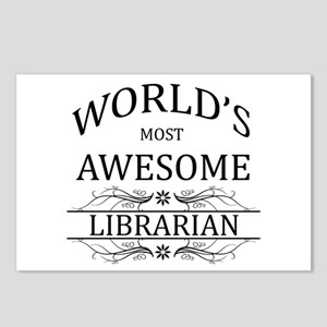 World's Most Awesome Librarian Postcards (Package