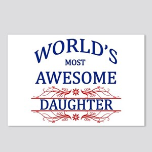 World's Most Awesome Daughter Postcards (Package o