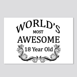 World's Most Awesome 18 Year Old Postcards (Packag