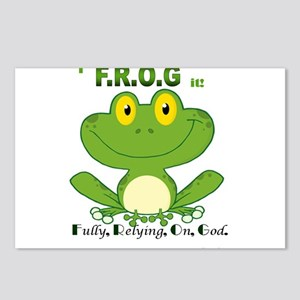 F.R.O.G. Fully, Relying,On,God Postcards (Package