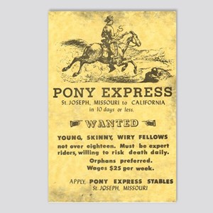 Pony Express Poster Postcards (Package of 8)