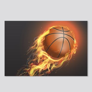 Flaming Basketball Postcards (Package of 8)