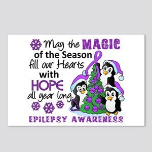 Holiday Penguins Epilepsy Postcards (Package of 8)