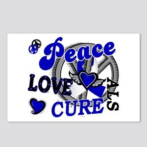 Peace Love Cure ALS 2 Postcards (Package of 8)