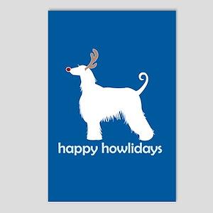 "Afghan Hound ""Happy Howlidays Postcards (Package o"