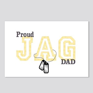 proud jag dad Postcards (Package of 8)