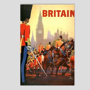 Vintage Travel Poster, Br Postcards (Package of 8)