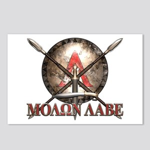 Molon Labe - Spartan Shield and Swords Postcards (