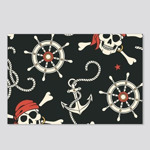 Pirate Skulls Postcards (Package of 8)