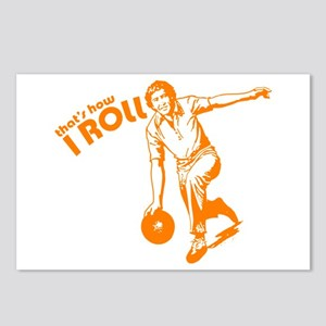 that's how i roll funny bowling t-shirt Postcards