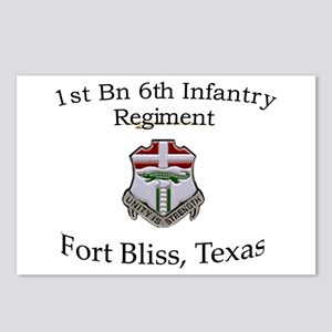 1st Bn 6th Inf Postcards (Package of 8)