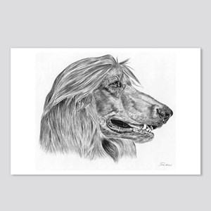 Afghan Hound Pencil Drawing Postcards (Package of