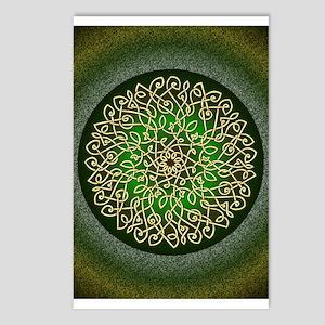 Sage Celtic Burst Postcards (package Of 8)