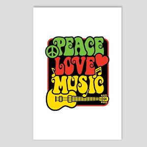Rasta Peace Love Music Postcards (package Of 8)