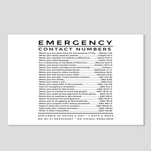 bible emergency number Postcards (Package of 8)