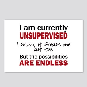 UNSUPERVISED Postcards (Package of 8)
