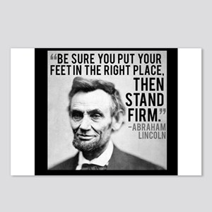 Abe Lincoln Stand Firm Postcards (Package of 8)