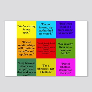 Sheldon Cooper Quotes Postcards (Package of 8)